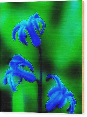 Cool Blue Wood Print by Thomas  MacPherson Jr