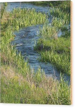 Cool Blue Water Wood Print