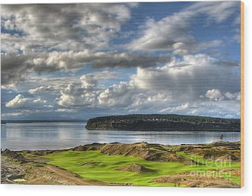 Wood Print featuring the photograph Cool Clouds - Chambers Bay Golf Course by Chris Anderson