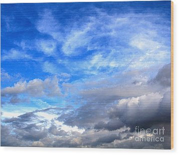 Cool Clouds Wood Print by Jay Nodianos
