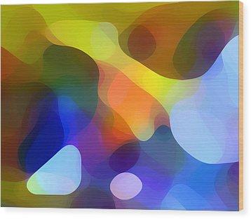 Cool Dappled Light Wood Print by Amy Vangsgard