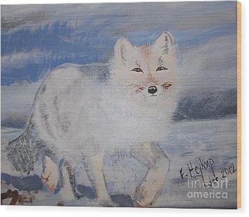 Cool Fox Wood Print