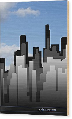 Cool Jazz City  Wood Print