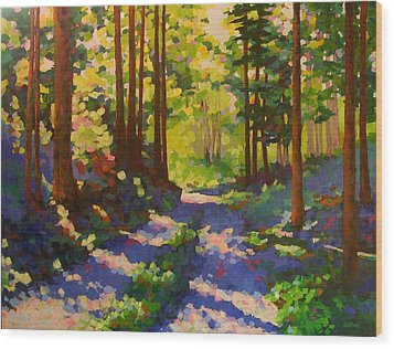 Cool Of The Shade Wood Print by Mary McInnis