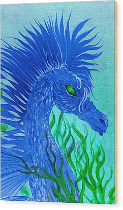 Cool Sea Horse Wood Print