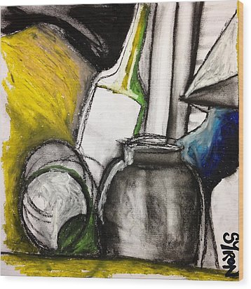 Cool Still Life Wood Print by Helen Syron