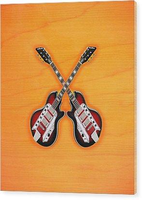 Cool Vintage Guitar Wood Print by Doron Mafdoos