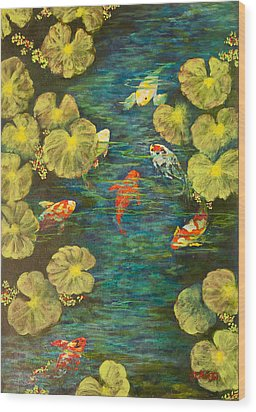 Cool Water Sanctuary Wood Print by Annie St Martin