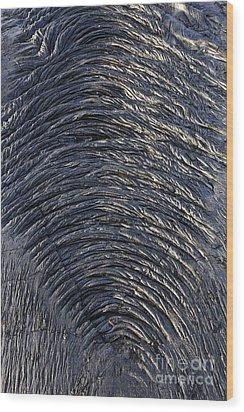 Cooled Pahoehoe Lava Wrinkles Wood Print by Sami Sarkis