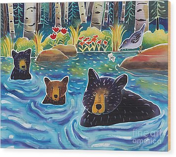Cooling Off Wood Print by Harriet Peck Taylor