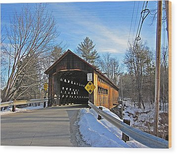 Coombs Covered Bridge Wood Print by MTBobbins Photography