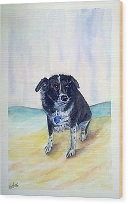 Wood Print featuring the painting Coop Dog Sold by Richard Benson