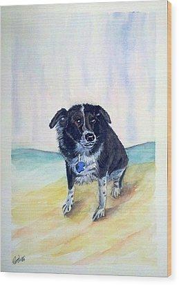 Coop Dog Sold Wood Print by Richard Benson