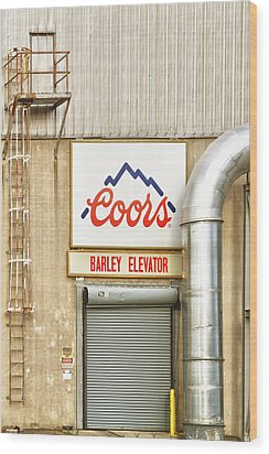 Coors Barley Elevator  Wood Print by James BO  Insogna