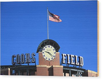 Coors Field - Colorado Rockies Wood Print by Frank Romeo
