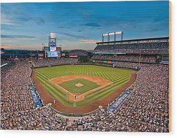 Coors Field Wood Print by Mark Whitt