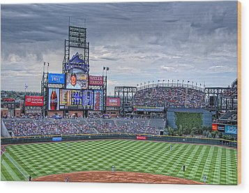 Coors Field Wood Print by Ron White