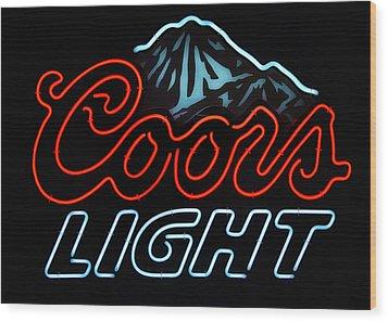 Coors Light Sign Wood Print