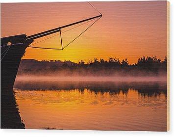 Coos Bay Sunrise II Wood Print by Robert Bynum