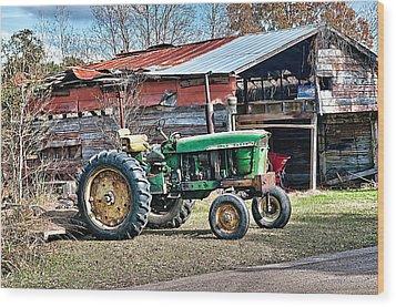 Coosaw - John Deere Tractor Wood Print
