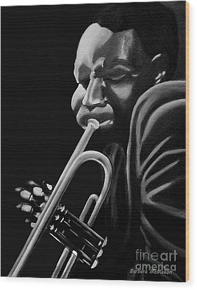 Cootie Williams Wood Print by Barbara McMahon