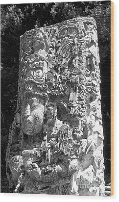Copan Stela Honduras Wood Print