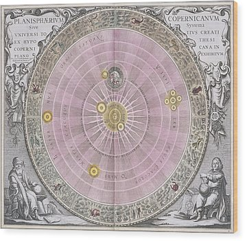 Copernican Planisphere, 1708 Wood Print by Science Photo Library