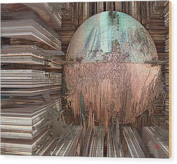 Copper Ball Wood Print by David Jenkins