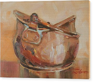 Copper Bowl Wood Print by Ron Wilson