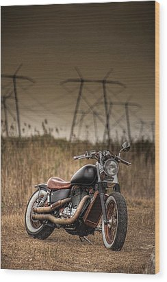 Copper Chopper Wood Print