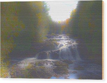Copper Falls Wood Print by Jim Baker