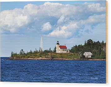 Copper Harbor Lighthouse Wood Print by Christina Rollo