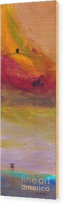 Copper Mist Wood Print by Robin Maria Pedrero