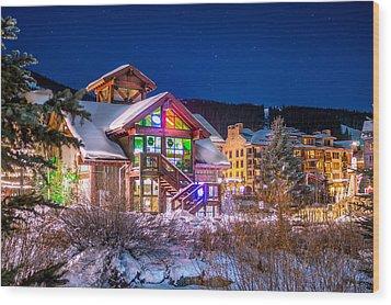 Copper Mountain Pub Wood Print by Michael J Bauer