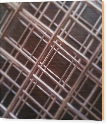 Copper Plaid Wood Print by Jaime Neo
