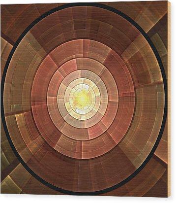 Copper Shield Wood Print by Anastasiya Malakhova