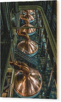 Copper Tops Wood Print