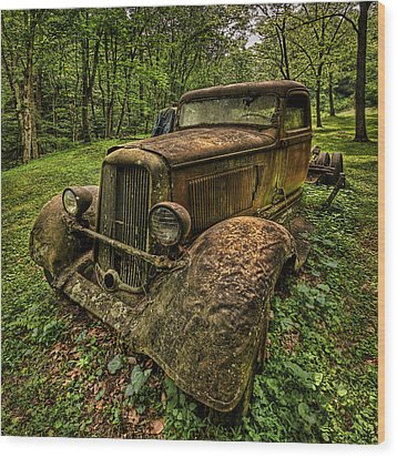 Copper Truck Wood Print by Wendell Thompson