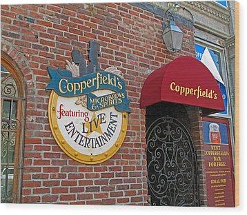 Copperfields Wood Print by Barbara McDevitt