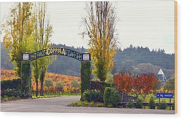 Coppola Winery Sold Wood Print