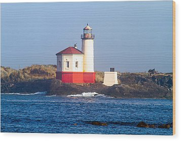 Coquille Lighthouse Wood Print