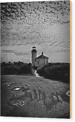 Coquille River Lighthouse Wood Print by Melanie Lankford Photography