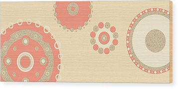 Wood Print featuring the digital art Coral And Cork by Kjirsten Collier