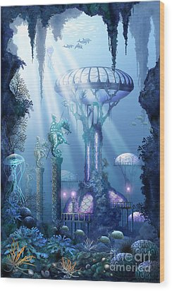 Coral City   Wood Print by Ciro Marchetti