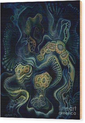 Coral Dive Wood Print