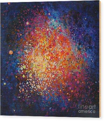Coral Nebula #2 Wood Print by Freddie Lieberman