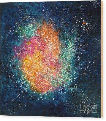 Coral Nebula Wood Print by Freddie Lieberman