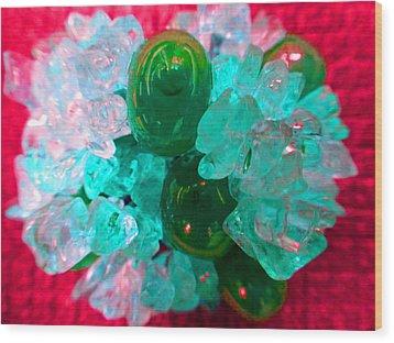 Coral Pop Wood Print