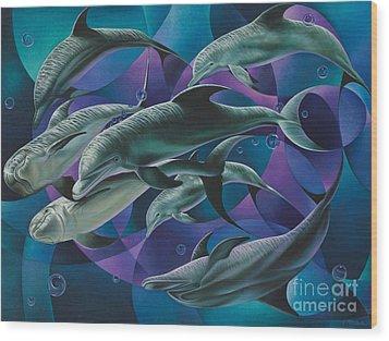 Corazon Del Mar  Wood Print by Ricardo Chavez-Mendez