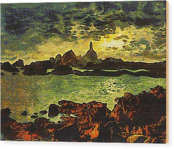 Corbiere Lighthouse Wood Print by Unknown